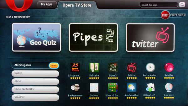 Opera lleva tienda de Apps a los Blu-Ray Sony