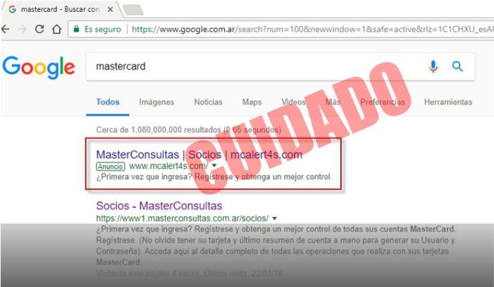 ¡Cuidado! Gracias a estos anuncios de Google podrían robar tu dinero
