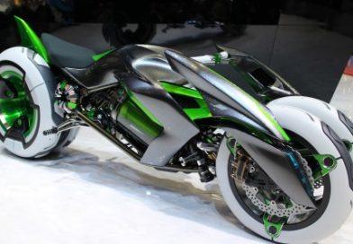 La avanzada motocicleta: Kawasaki J Three Wheleer EV